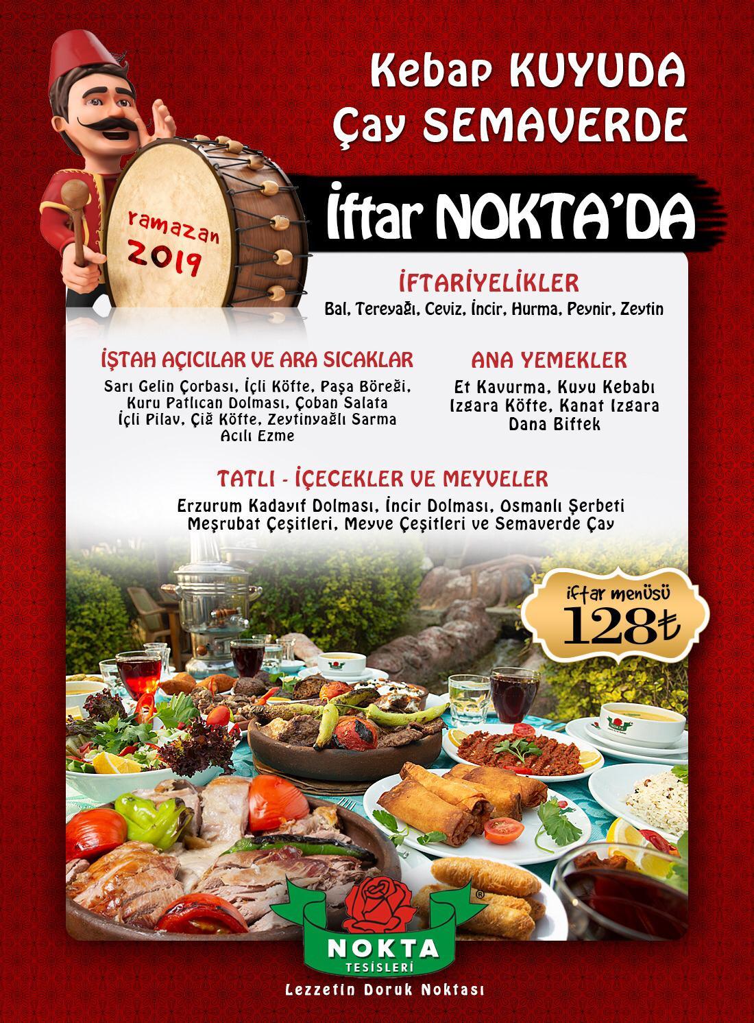 nokta tesisleri 2019 iftar menüsü